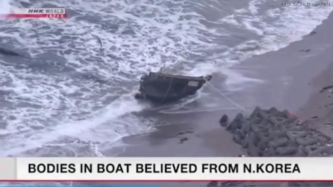 """Nhật Bản phát hiện """"tàu ma"""" chứa 7 thi thể - Ảnh 1."""