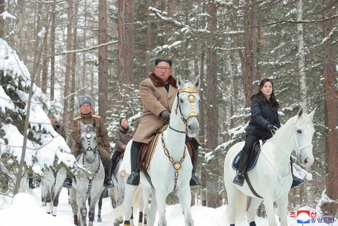 Lãnh đạo Triều Tiên cưỡi bạch mã trong khung cảnh đẹp khó cưỡng - Ảnh 1.