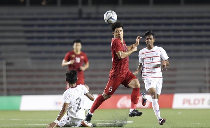 Thắng đậm U22 Campuchia, U22 Việt Nam tái ngộ Indonesia ở chung kết - Ảnh 1.