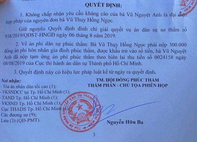 Hồi kết vụ ly hôn của bác sĩ Chiêm Quốc Thái - Ảnh 2.