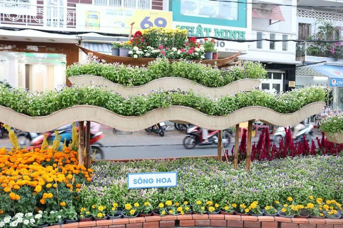 Đường hoa nghệ thuật Cần Thơ rực rỡ khi được lắp 80.000 chậu hoa tươi - Ảnh 7.