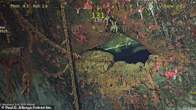 Tìm thấy tàu sân bay Mỹ lừng danh chìm cách đây 77 năm - Ảnh 2.