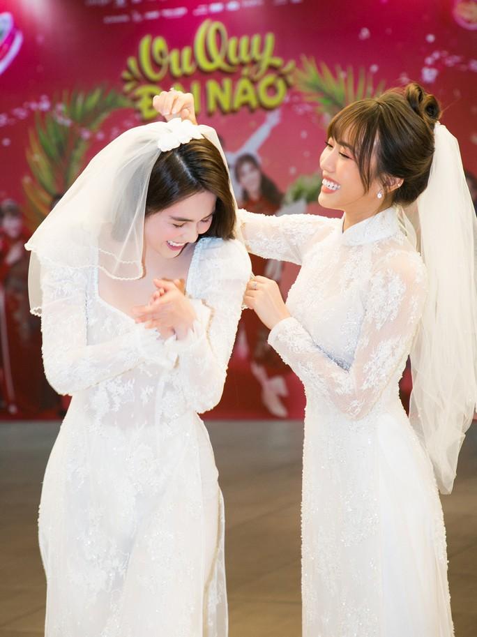 Ngọc Trinh và Diệu Nhi duyên dáng với đầm cô dâu - Ảnh 8.