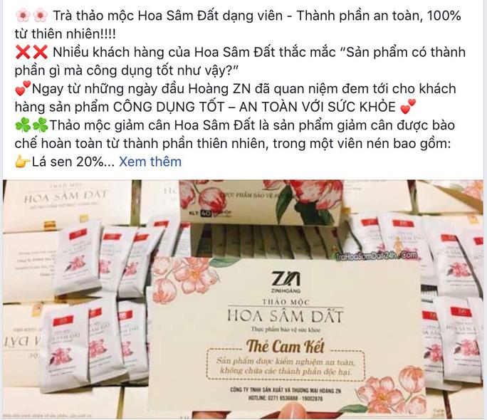 Trà giảm cân có chất cấm rao bán rầm rộ - Ảnh 2.