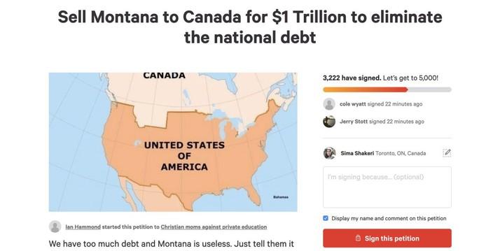Mỹ: Nợ công cao, người dân kiến nghị bán bang Montana cho Canada - Ảnh 1.
