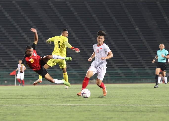 Thắng Timor Leste 4-0, U22 Việt Nam vào bán kết giải U22 Đông Nam Á - Ảnh 1.