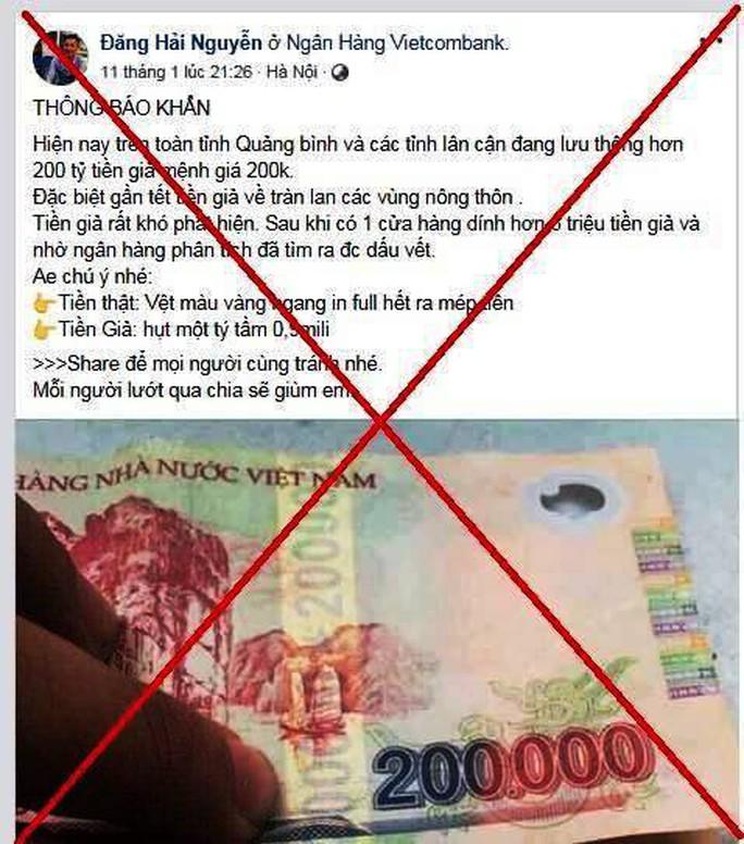 200 tỉ đồng tiền giả xuất hiện ở Quảng Bình dịp Tết là tin đồn thất thiệt - Ảnh 2.