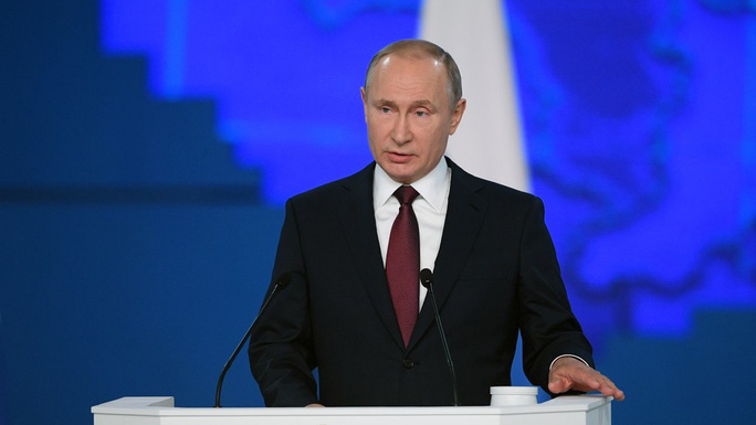 Đọc thông điệp liên bang, ông Putin nhắm thẳng vào Mỹ - Ảnh 1.