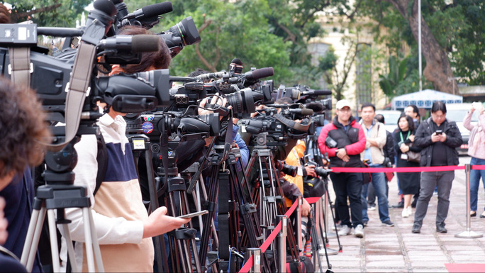 Trung tâm báo chí quốc tế hội nghị thượng đỉnh Mỹ-Triều hoạt động 24/24 giờ - Ảnh 1.