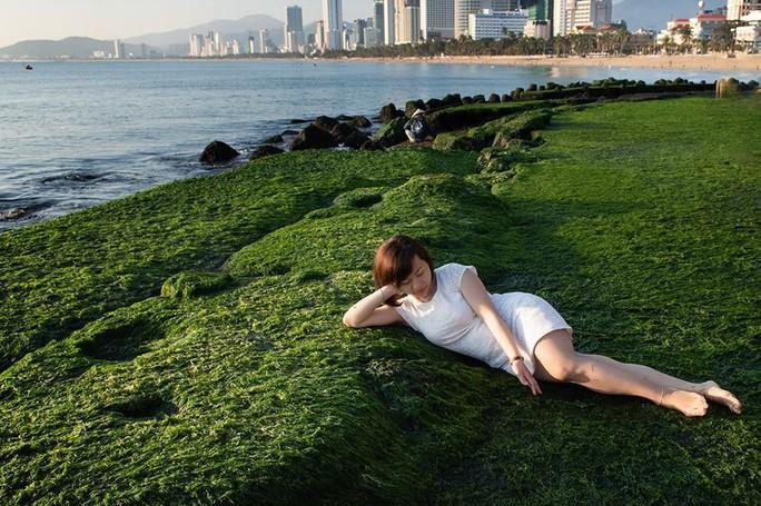 Ngắm bãi rêu xanh tuyệt đẹp hút khách ở Nha Trang - Ảnh 1.