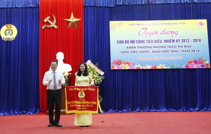 Quảng Nam: Khen thưởng cán bộ nữ công tiêu biểu - Ảnh 2.