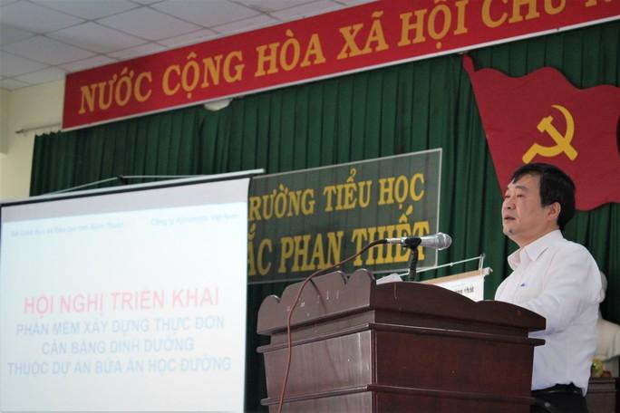 Bình Thuận chính thức áp dụng phần mềm Dự án Bữa ăn học đường trong công tác bán trú - Ảnh 2.