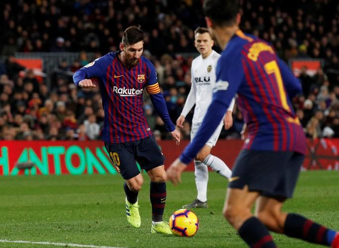 Cú đúp của Messi giúp Barcelona thoát hiểm trước Valencia - Ảnh 1.