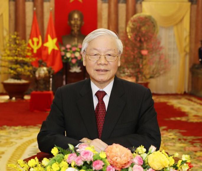 Tổng Bí thư, Chủ tịch nước Nguyễn Phú Trọng chúc Tết - Ảnh 1.