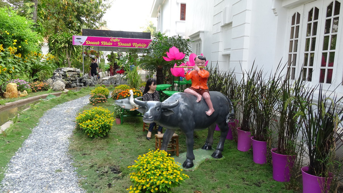 Trụ sở UBND tỉnh Đồng Tháp thân thiện đón khách du Xuân - Ảnh 13.