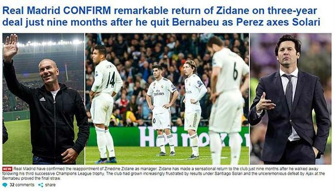 Báo chí thế giới ngỡ ngàng ngày Zidane trở lại Real Madrid - Ảnh 6.