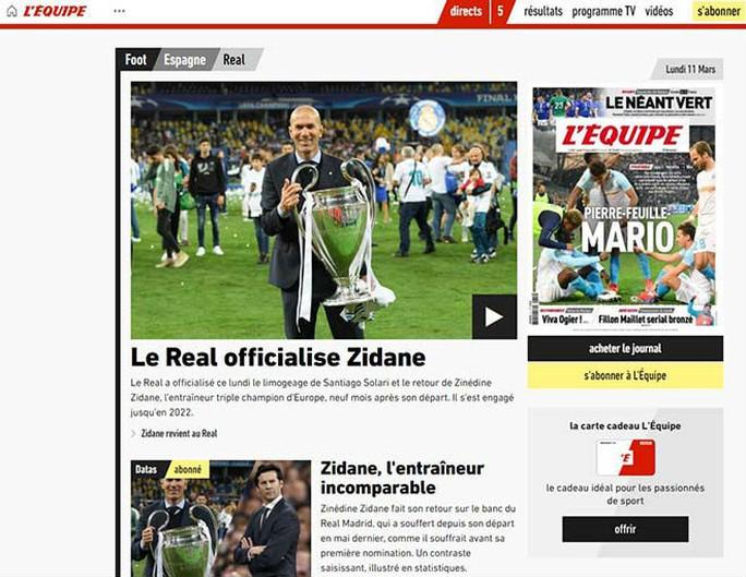 Báo chí thế giới ngỡ ngàng ngày Zidane trở lại Real Madrid - Ảnh 8.