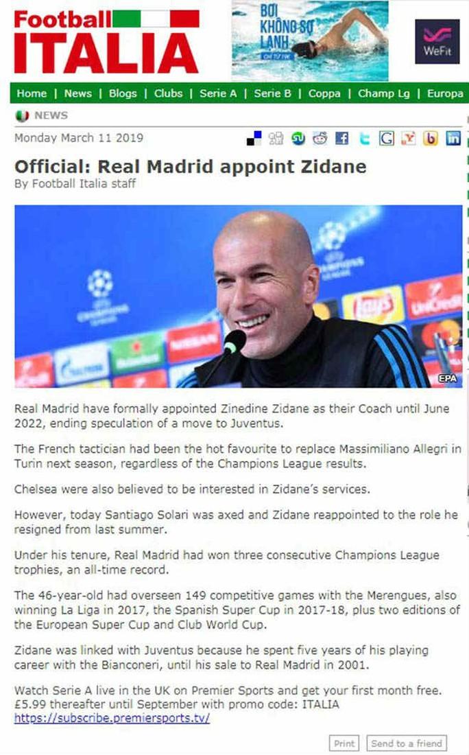 Báo chí thế giới ngỡ ngàng ngày Zidane trở lại Real Madrid - Ảnh 7.