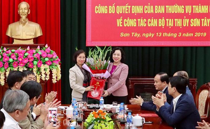 Hà Nội có tân nữ Bí thư Thị ủy 44 tuổi - Ảnh 1.