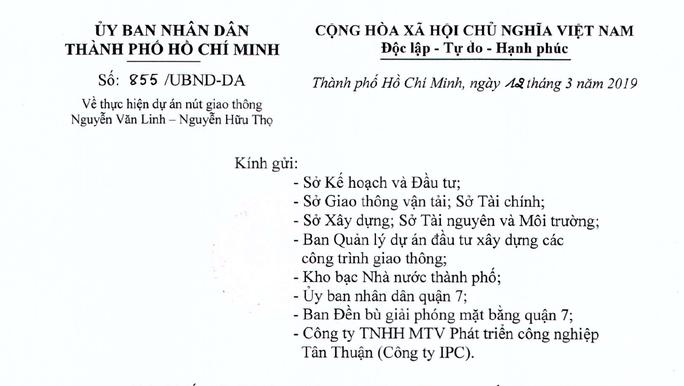 Công ty Tân Thuận- IPC bị UBND TP HCM rút quyền chủ đầu tư 2 dự án lớn tại khu Nam - Ảnh 1.