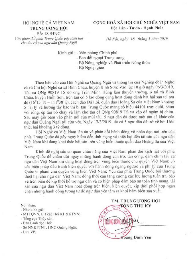 Yêu cầu Trung Quốc bồi thường thiệt hại cho ngư dân Việt Nam - Ảnh 2.