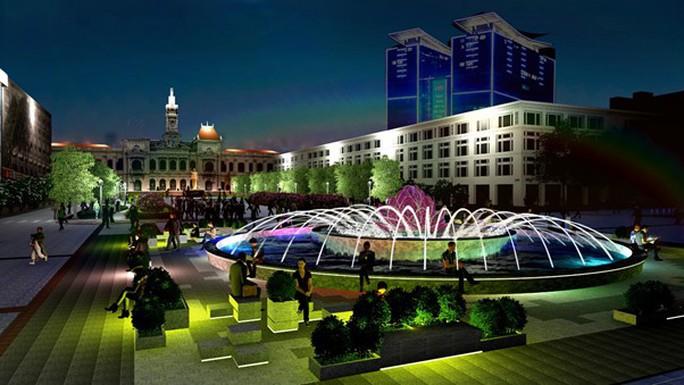 TP HCM xây lại đài phun nước trên phố đi bộ Nguyễn Huệ - Ảnh 1.