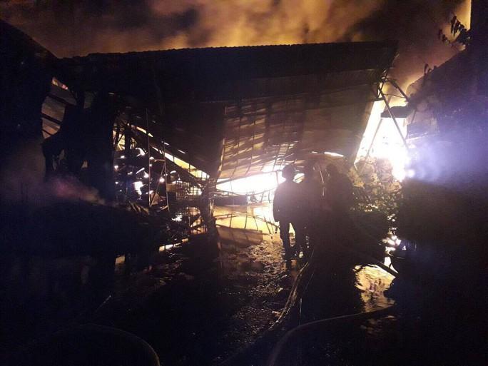 Cháy dữ dội suốt hơn 3 giờ ở huyện Hóc Môn, TP HCM - Ảnh 2.