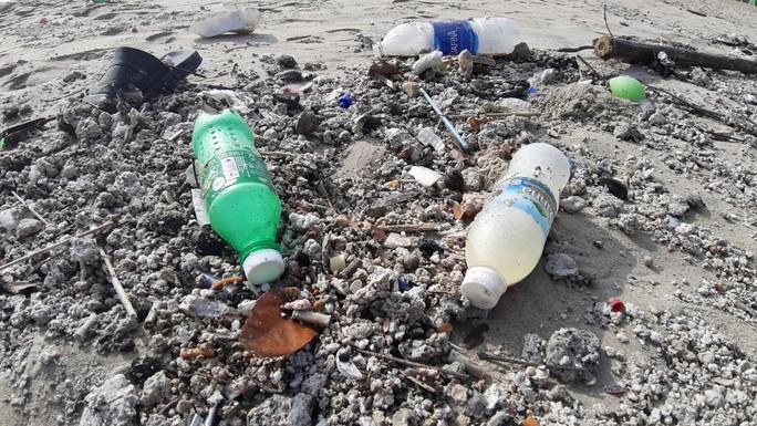 Hàng chục tấn rác bủa vây hơn 2 km bờ biển Đà Nẵng - Ảnh 8.