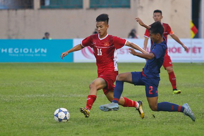 Lứa đàn em Quang Hải đàn áp, vượt trội U19 Thái Lan - Ảnh 2.