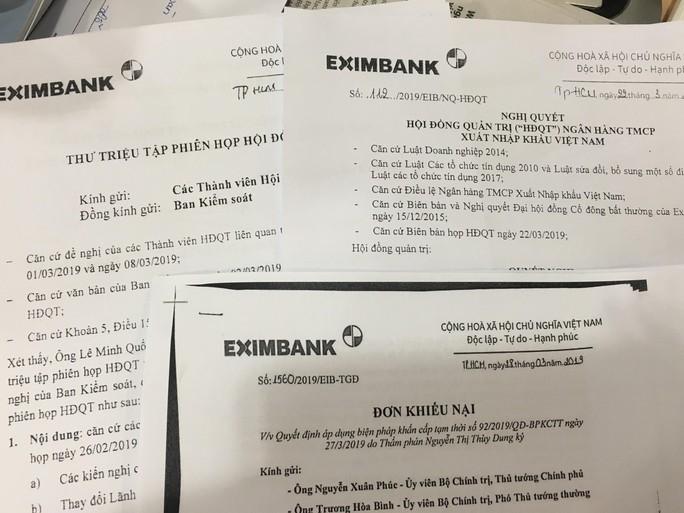 Eximbank khiếu nại quyết định của tòa án liên quan vụ bầu chủ tịch HĐQT mới - Ảnh 1.