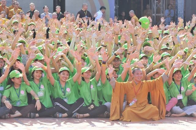 """Hơn 1.500 bạn trẻ về Cần Thơ tham gia Hội trại """"Tuổi trẻ và Phật giáo"""" - Ảnh 1."""
