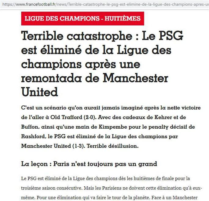 Tạp chí France Football: Trận thua của PSG là thảm họa khủng khiếp! - Ảnh 1.