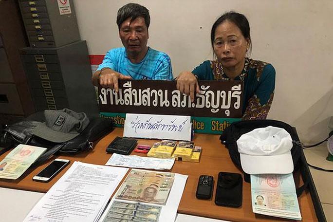 Cặp đôi người Việt bị bắt vì móc túi ở Thái Lan - Ảnh 1.