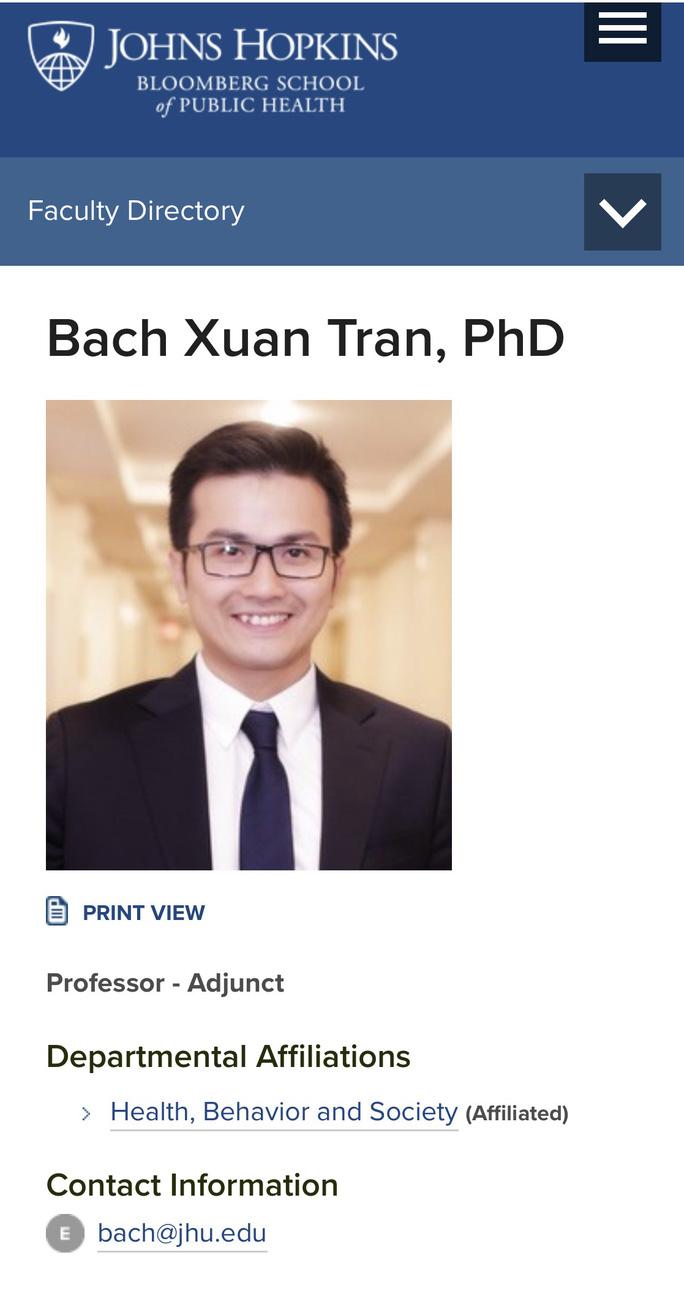 Giáo sư trẻ tuổi của Đại học Johns Hopkins là người Việt Nam  - Ảnh 1.