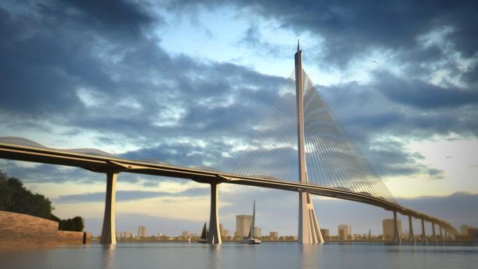 Cầu Cần Giờ sẽ được thiết kế dạng dây văng 1 trụ, hình cây Đước - Ảnh 1.
