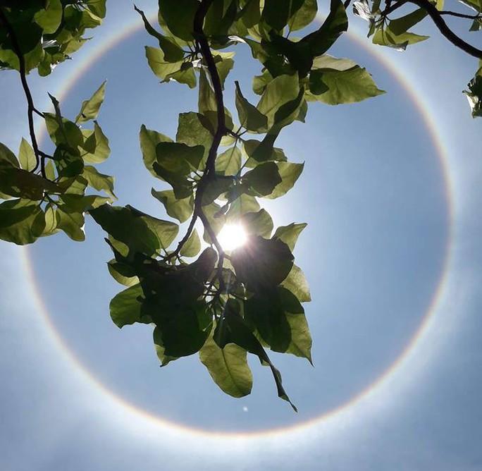 Thích thú với hiện tượng vầng hào quang bao quanh mặt trời ở Quảng Nam - Ảnh 2.
