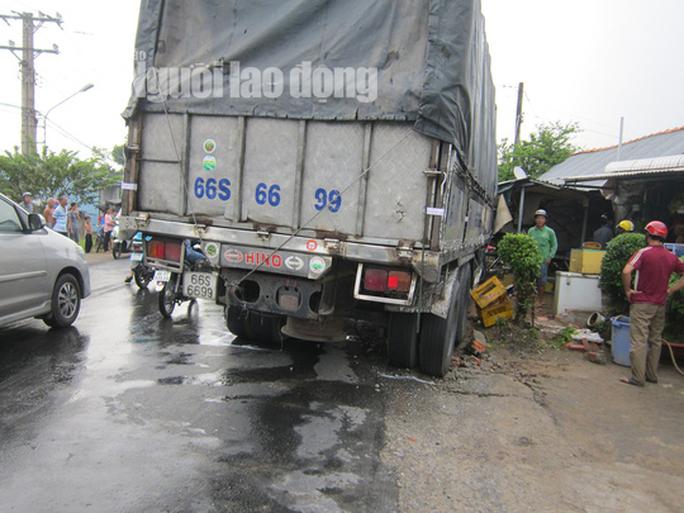 Xe tải tông chết bà bán thịt chó ven đường  - Ảnh 2.