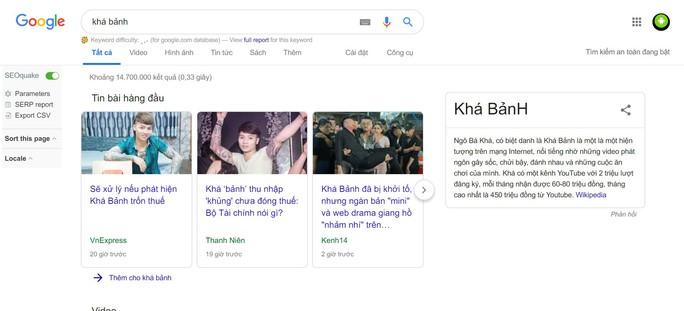 Khá Bảnh đứng đầu xu hướng tìm kiếm Google tuần qua - Ảnh 1.