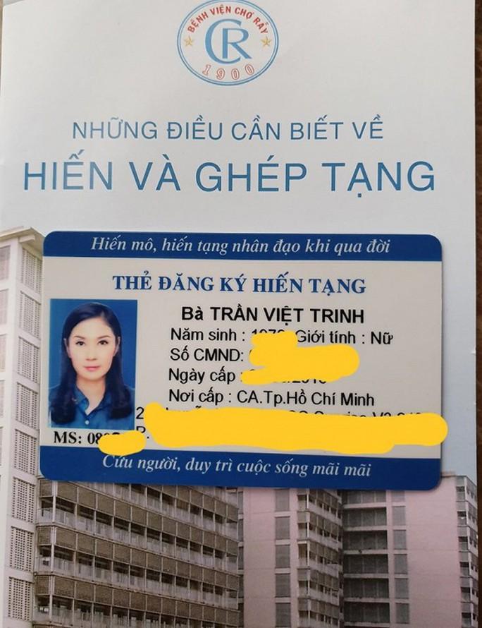 Việt Trinh kêu gọi mọi người cùng cô hiến tạng - Ảnh 2.