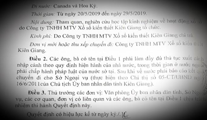 Thực hư Kiên Giang cử cán bộ sắp về hưu đi học tập kinh nghiệm xổ số ở nước ngoài - Ảnh 2.