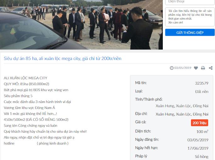 Đồng Nai cảnh báo về dự án của Alibaba ở huyện Xuân Lộc - Ảnh 2.