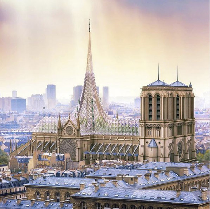 Choáng với những mẫu thiết kế Nhà thờ Đức Bà Paris - Ảnh 1.