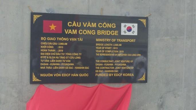 Cầu Vàm Cống bắc qua sông Hậu chính thức được khánh thành - Ảnh 9.
