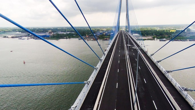 Cầu Vàm Cống bắc qua sông Hậu chính thức được khánh thành - Ảnh 19.