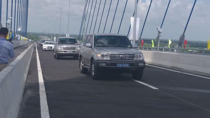 Cầu Vàm Cống bắc qua sông Hậu chính thức được khánh thành - Ảnh 5.
