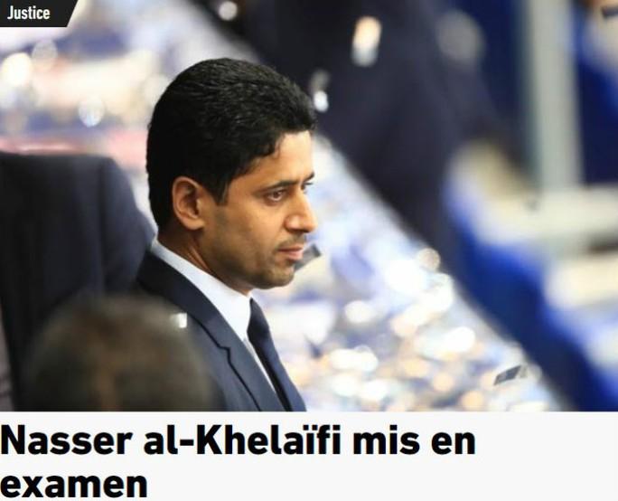 Ông trùm PSG dính nghi án hối lộ, bóng đá Pháp rối beng - Ảnh 1.