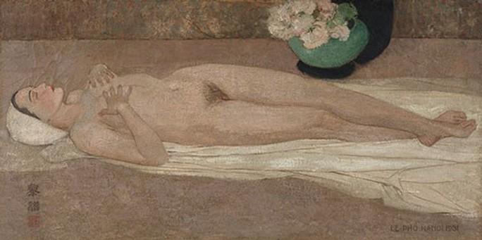Hai bức tranh của Lê Phổ bán hơn 44 tỉ đồng - Ảnh 1.