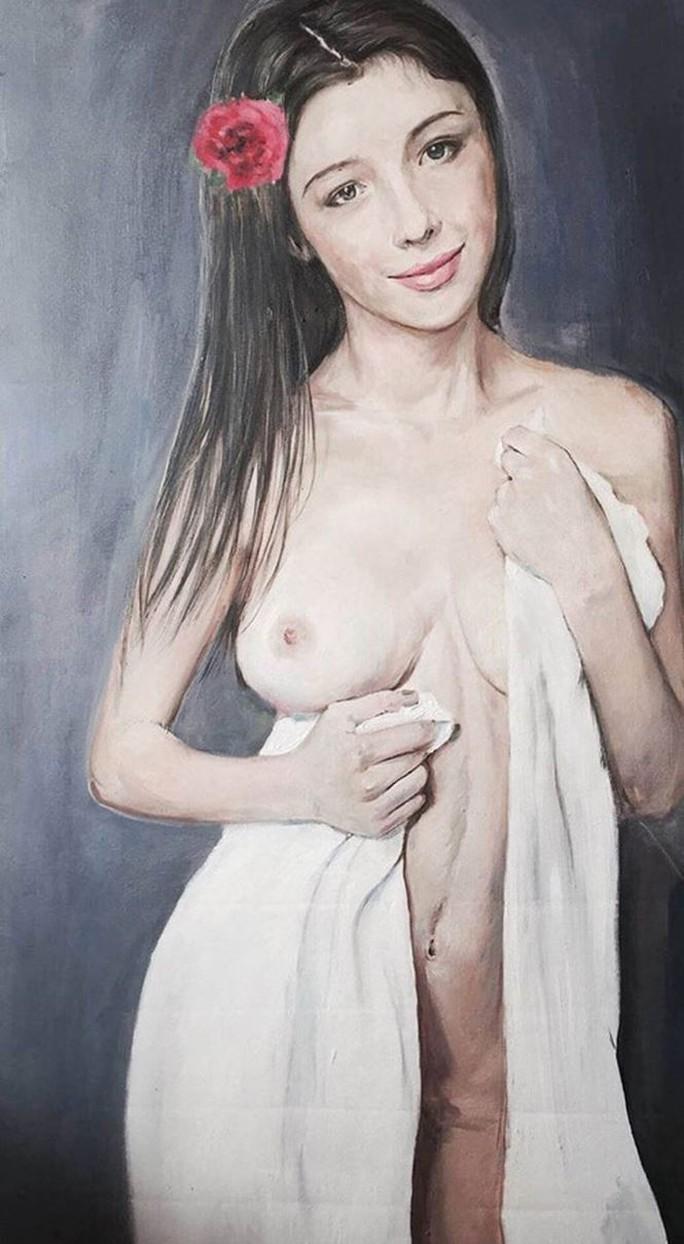 Cận cảnh bức tranh khỏa thân giá triệu USD của họa sĩ Lê Phổ - Ảnh 9.