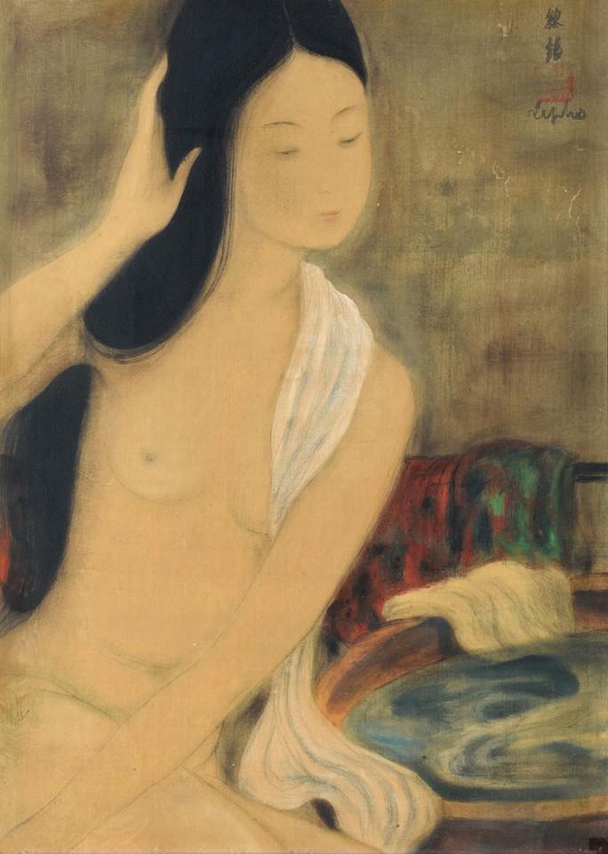 Cận cảnh bức tranh khỏa thân giá triệu USD của họa sĩ Lê Phổ - Ảnh 4.