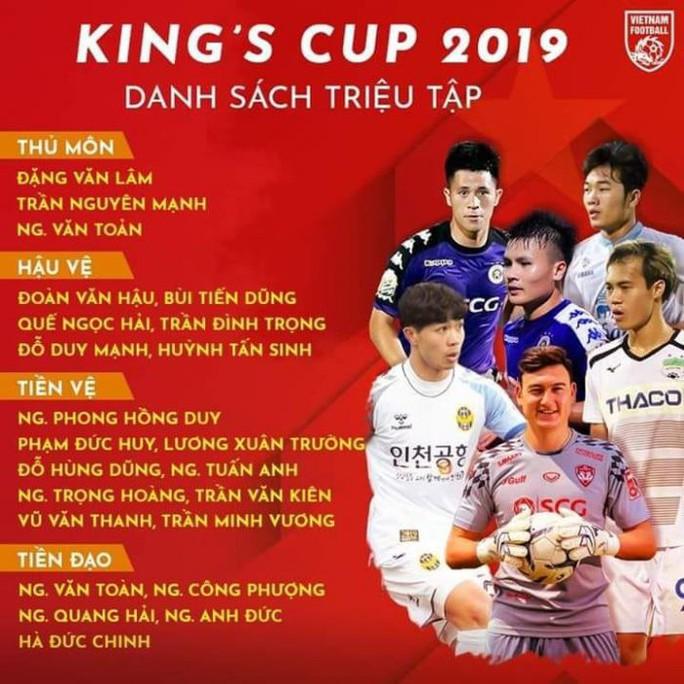 Những cái tên gây sốc khi HLV Park công bố danh sách dự Kings Cup 2019 - Ảnh 1.